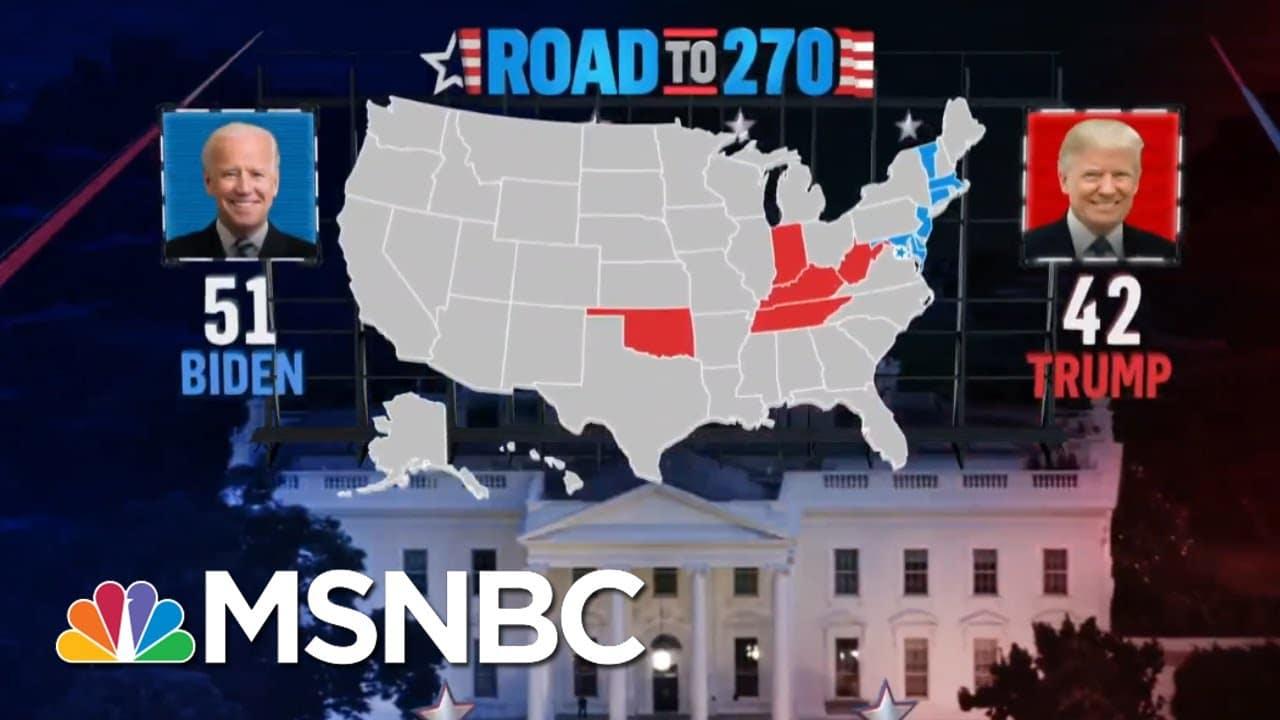 Biden Wins Connecticut And Trump Wins West Virginia, NBC News Projects | MSNBC 4