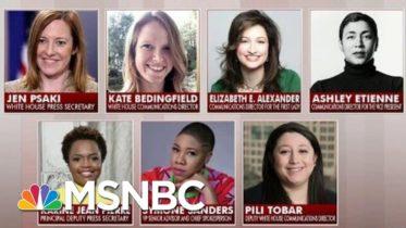 Biden Hires All-Female WH Communications Team | Morning Joe | MSNBC 6