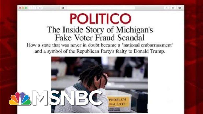 'Michigan Wasn't Close': Inside The Voter Fraud Scandal | Morning Joe | MSNBC 1