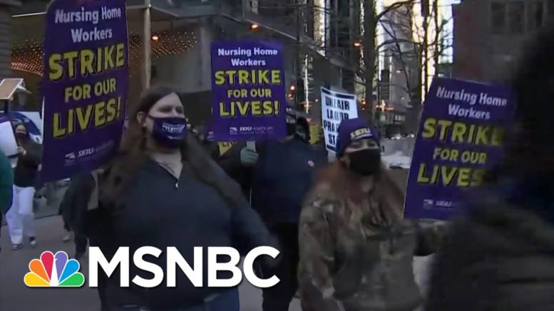 Hundreds Of Chicago-Area Nursing Home Workers Strike As Cases Spike | Ayman Mohyeldin | MSNBC 1