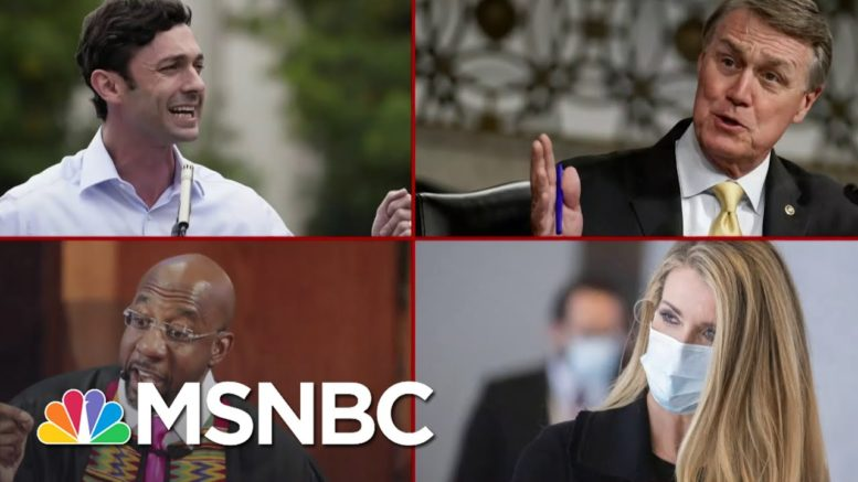Campaigning For Senate Runoffs But Also Pushing Narrative Of Election Fraud | Deadline | MSNBC 1