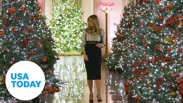 Melania Trump unveils White House Christmas decorations after controversy | USA TODAY 1