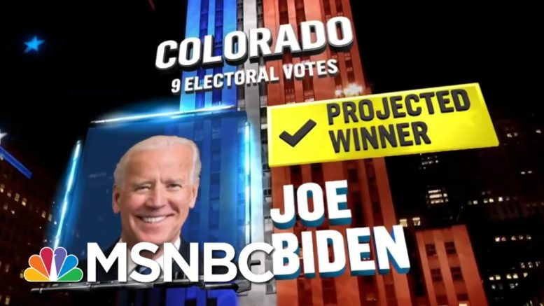 Biden Wins Colorado, NBC News Projects   MSNBC 1