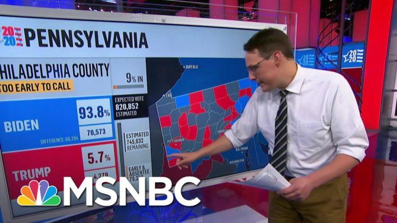 Kornacki Breaks Down Why Pennsylvania Results Will Take Time   MSNBC 1