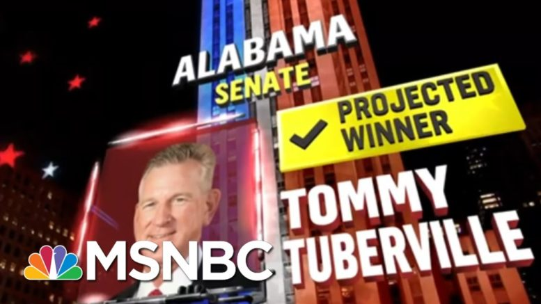 Tuberville Beats Sen. Jones In Alabama, NBC News Projects, In Gain For Republicans | MSNBC 1