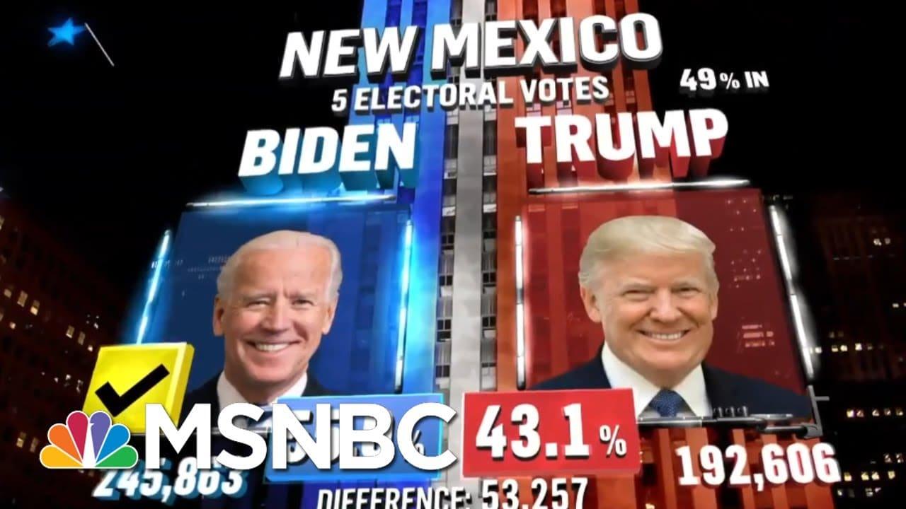 Biden Wins New Mexico, NBC News Projects | MSNBC 8
