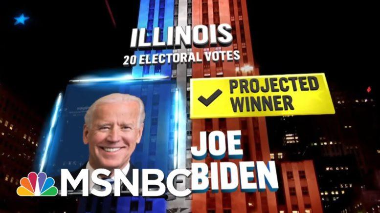 Biden Wins Illinois, NBC News Projects | MSNBC 1
