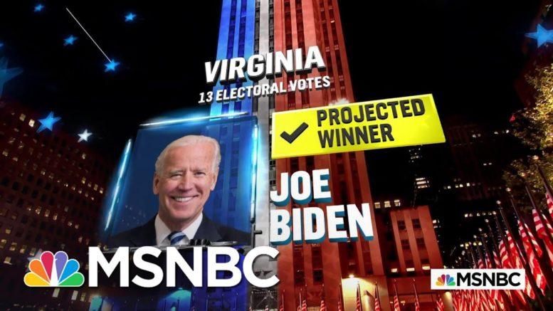 Biden Wins Virginia, NBC News Reports | MSNBC 1
