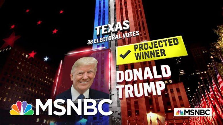 Trump Wins Texas, NBC News Projects | MSNBC 1