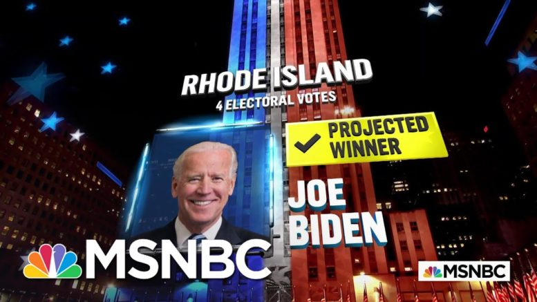Biden Wins Rhode Island, NBC News Projects | MSNBC 1