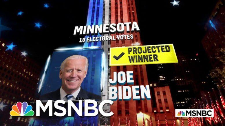Biden Wins Minnesota, NBC News Projects   MSNBC 1