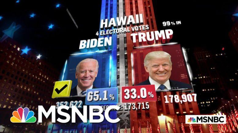 Biden Wins Hawaii, NBC News Projects | MSNBC 1