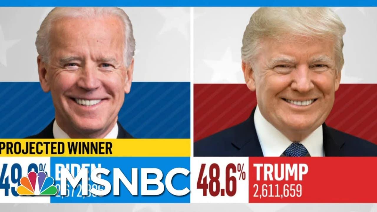 NBC News Projects Joe Biden Will Win Michigan | MSNBC 3
