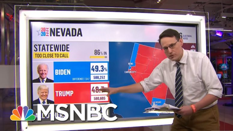 With A Few States Outstanding, Kornacki Breaks Down A Path To 270 For Biden | MSNBC 1