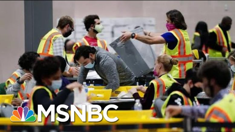 Why Trump's 2020 Recount Won't Stop A Biden Win In Wisconsin | The Beat With Ari Melber | MSNBC 1