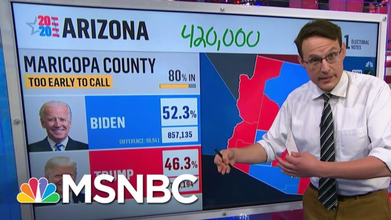 Kornacki: Arizona's 'Late Early Vote' Could Push Trump To A Statewide Victory   MSNBC 1