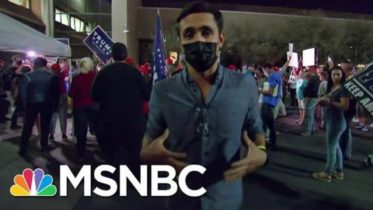 Trump Supporters Demonstrate Outside Vote Processing Facility In Arizona   MSNBC 6