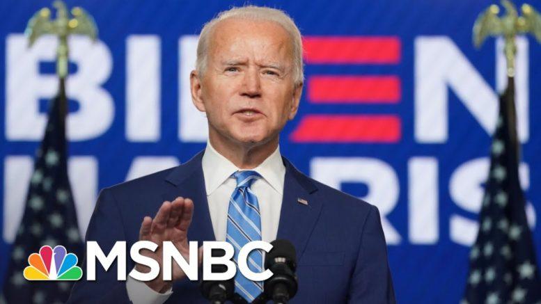 Cautious Biden Eyes 270 As Team Trump Falsely Claims 'Fraud'   The 11th Hour   MSNBC 1
