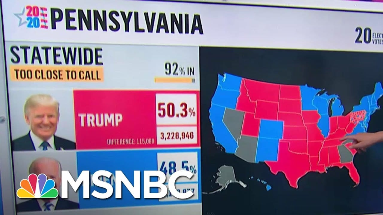 What To Watch For In Pennsylvania: Where Is The Outstanding Vote? | MSNBC 7