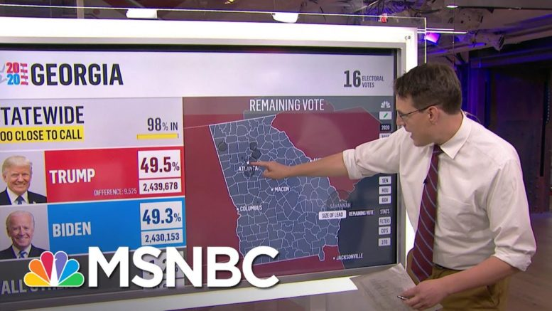 Steve Kornacki Reports On New Votes Coming In From Georgia And Pennsylvania | Deadline | MSNBC 1