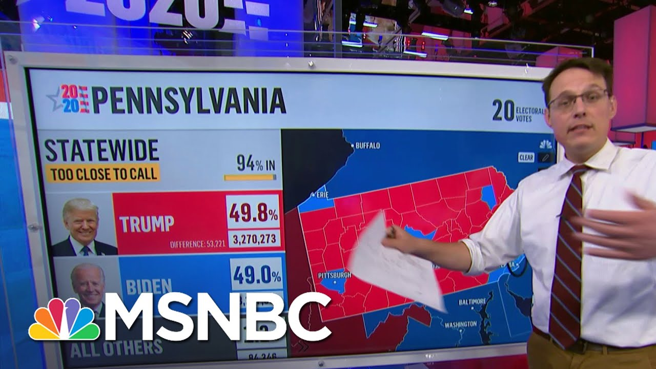 Kornacki: Philadelphia Could Be More Than Enough To Vault Biden Over Trump In Statewide Lead   MSNBC 9