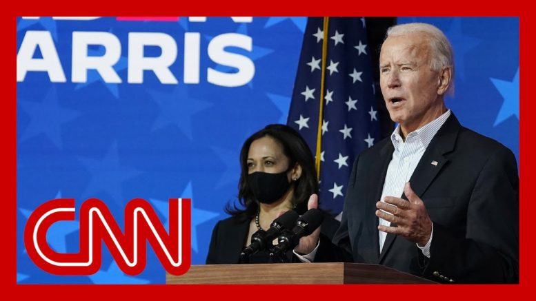 Watch Joe Biden's speech as votes are counted 1