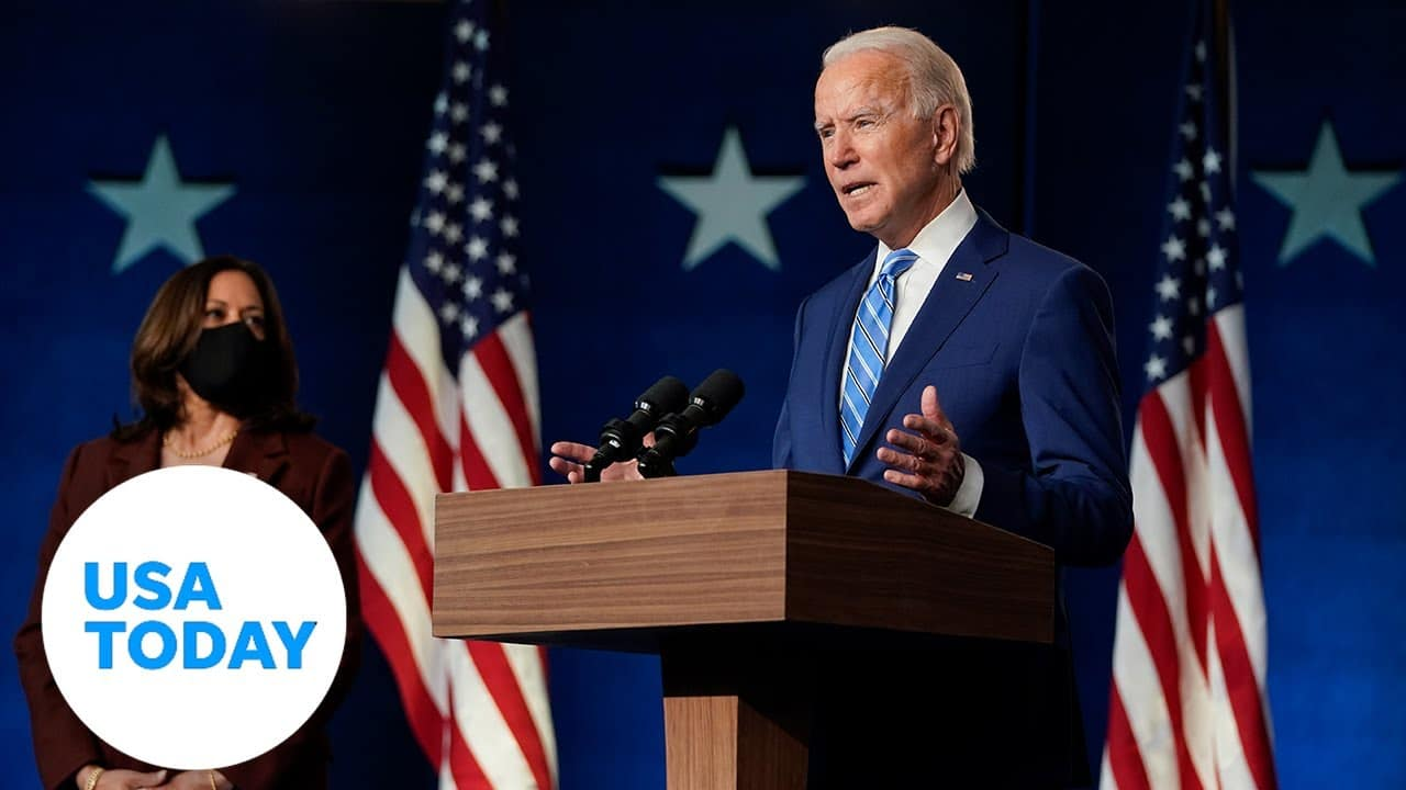 Joe Biden delivers remarks as ballot counting continues | USA TODAY 6