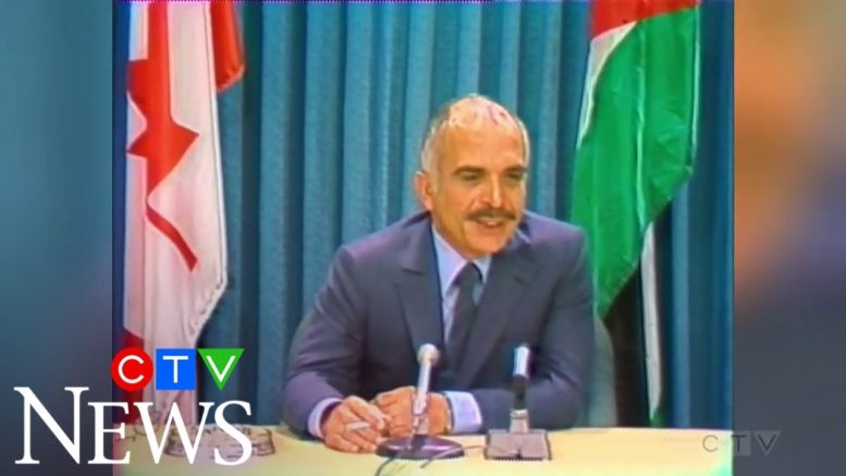 1981: Jordan's King Hussein visits Canada, meets with Pierre Trudeau 1