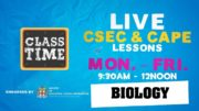 CSEC Biology 9:45AM-10:25AM | Educating a Nation - November 2 2020 2