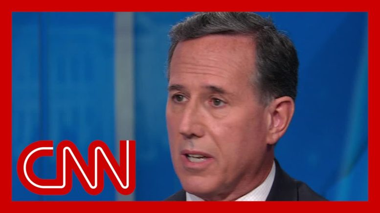 """No elected Republican will stand behind Trump's statement"": Santorum weighs in on Trump briefing 1"