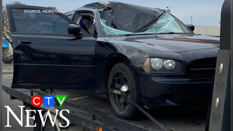 Wheel from SUV smashes car's windshield on Toronto highway 1