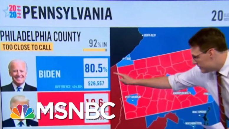 Joe Biden Takes The Lead In Pennsylvania Vote Count Friday Morning | Morning Joe | MSNBC 1