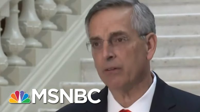 Georgia Secretary Of State Gives Update On Election Results | MSNBC 1