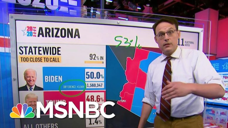 Updated Maricopa Vote Count Shows Why Trump May Not Catch Biden In Arizona | Craig Melvin | MSNBC 1