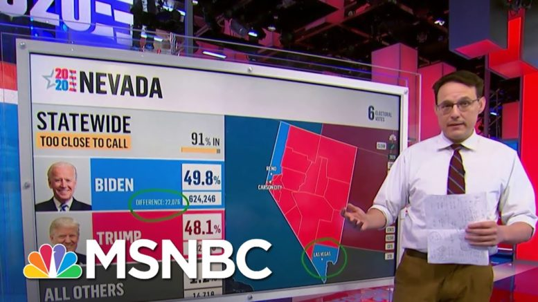 Latest Nevada Vote Count Shows Biden Doubling State Lead   Craig Melvin   MSNBC 1
