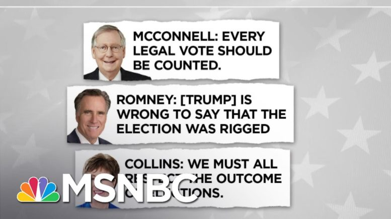 GOP Split Over Trump's False 'Rigged' Election Claims | Andrea Mitchell | MSNBC 1