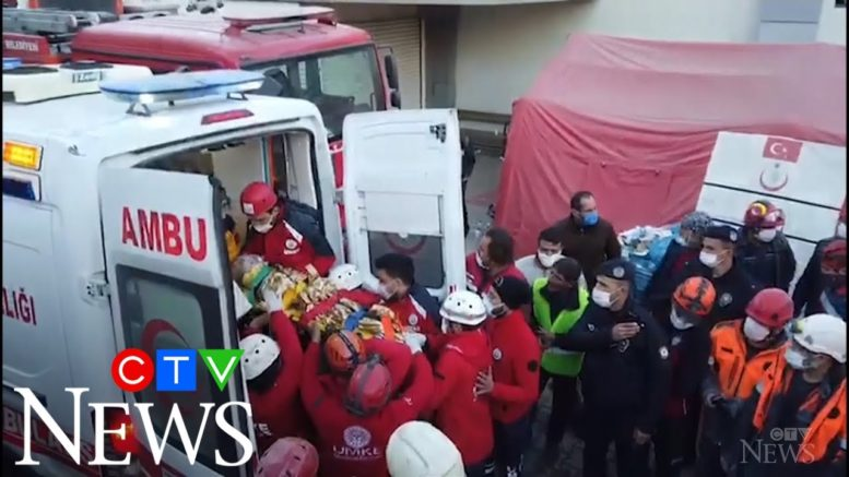 Girls found alive in rubble days after quake shakes Turkey 1