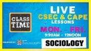 CAPE Sociology 11:15AM-12:00PM | Educating a Nation - November 6 2020 5