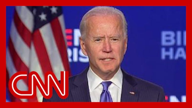 Joe Biden addresses nation as votes continue to be tallied 1