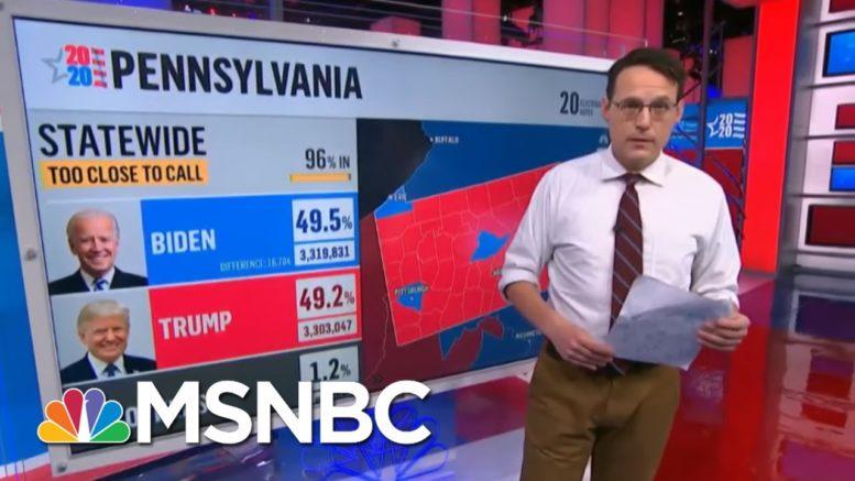 Breaking: Trump Loses More Ground In Do-Or-Die Penn., MSNBC's Kornacki Reports On MSNBC | MSNBC 1