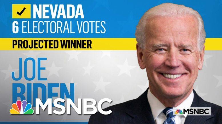 NBC News Projects Biden Will Win Nevada | MSNBC 1