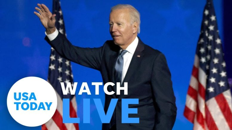 Joe Biden and Kamala Harris address nation upon securing votes to win White House | USA TODAY 1