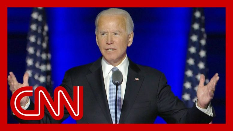 Joe Biden addresses the nation after election victory 1