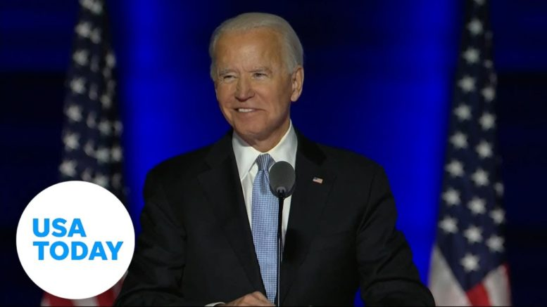 Joe Biden calls for unity in first address as President-elect | USA TODAY 1