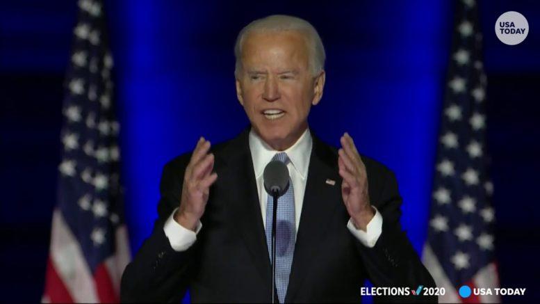 President-elect Joe Biden delivers address upon winning enough votes to take White House | USA TODAY 1