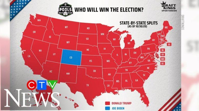 Presidential picks: Bettors are favouring Donald Trump over Joe Biden 1