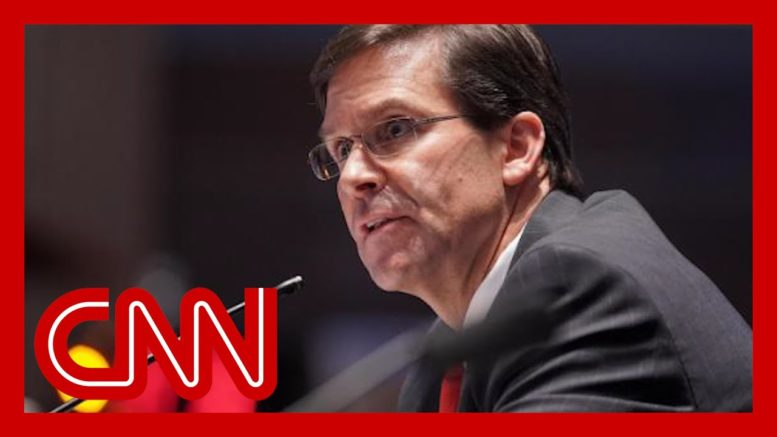 Mark Esper fired as defense secretary 1