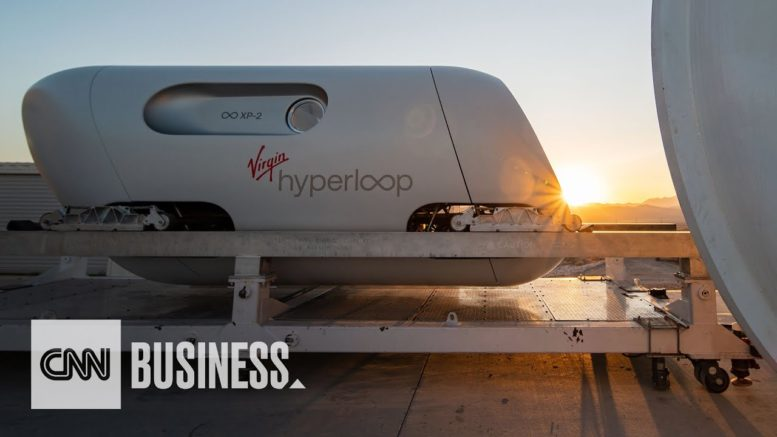 Watch people travel in Virgin Hyperloop for the first time 1