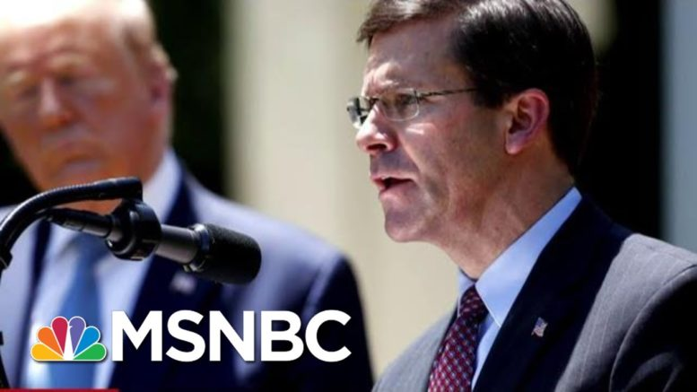 Donald Trump Fires Defense Secretary Mark Esper | MTP Daily | MSNBC 1