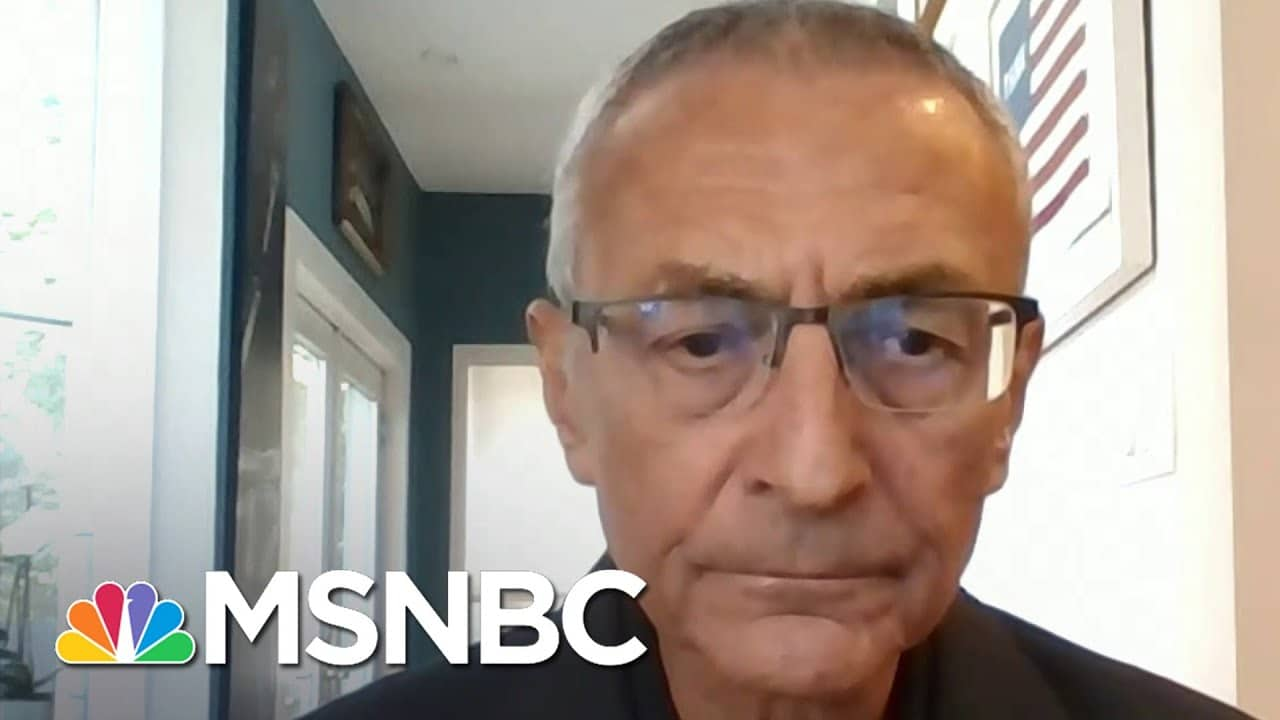 John Podesta: Trump 'Is Interfering With The Orderly Transition Of Power'   Andrea Mitchell   MSNBC 6
